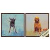 Propac Images Dog 2 Piece Framed Painting Print Set