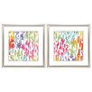 Propac Images Splashes of Color 2 Piece Framed Graphic Art Set