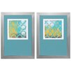Propac Images Neo Lattice 2 Piece Framed Painting Print Set