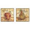 PTM Images Kitchen Fruit Framed Graphic Art (Set of 2)