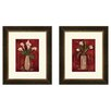 PTM Images Floral Hot Callas Framed Painting Print (Set of 2)
