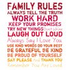 PTM Images Family Rules Giclée Textual Art on Wrapped Canvas