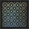 PTM Images Gold On Blue Giclee Print Framed Graphic Art