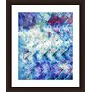 PTM Images Chevron Flowers Framed Graphic Art
