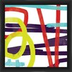 PTM Images 'Fast Swirls' Framed Painting Print
