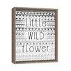 PTM Images Little Wild Flower Reverse Inverse Framed Painting Print