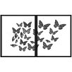 PTM Images Butterflies Diptych 2 Piece Framed Graphic Art Set