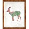 PTM Images Boho Antelope Framed Painting Print