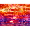 PTM Images Mosaic Sunrise Painting Print on Wrapped Canvas