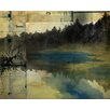 PTM Images Lake At Dusk Abstract Painting Print on Wrapped Canvas