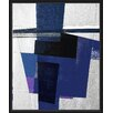 PTM Images Dark Blues II Floater Framed Painting Print on Wrapped Canvas