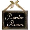PTM Images Powder Room Giclée Textual Art Plaque