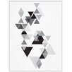 PTM Images Grey Triangles I Inverse Framed Graphic Art