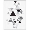 PTM Images Grey Triangles II Inverse Framed Graphic Art