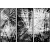 PTM Images Abstract Lines Inverse Triptych 3 Piece Framed Graphic Art Set