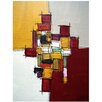 PTM Images CheckeAbstract Painting Print on Wrapped Canvas