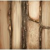 PTM Images Geometric Textured Painting Print on Wrapped Canvas
