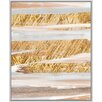 PTM Images Hues I Floater with Leaf Embellishment Floater Framed Graphic Art on Wrapped Canvas