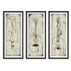 PTM Images ARCHITECTURAL GUITARS SET of 3