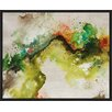 PTM Images Green Watercolors Inverse Framed Painting Print