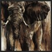 PTM Images 'Elephants in the Wild' Inverse Framed Painting Print