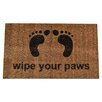 Imports Decor Molded Wipe Your Feet Doormat
