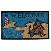 Imports Decor Creel Beach Lighthouse Doormat