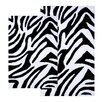 Chesapeake Merchandising Inc. Safari Zebra Contemporary Bath Rug (2 Piece Set)