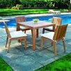 Kingsley Bate Mendocino Square Dining Set
