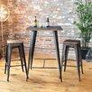 LumiSource Oregon 3 Piece Pub Table Set