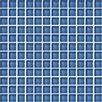 "Daltile Color Wave 1"" x 1"" Glass Mosaic Field Tile in Twilight Blue"