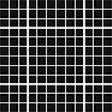 """Daltile Color Wave 1"""" x 1"""" Mosaic Field Tile in Midnight Black"""
