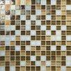 "Daltile Glass Horizons 3/4"" x 3/4"" Mosaic Field Tile in Mediterranean Blend"