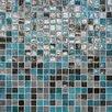 "Daltile City Lights 0.5"" x 0.5"" Glass Mosaic Tile in Rio"
