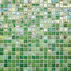 "Daltile City Lights 0.5"" x 0.5"" Glass Mosaic Tile in Green"