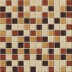 "Daltile Illustrations 1"" x 1"" Ceramic Mosaic Tile in Amber Blend"