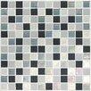 """Daltile Keystones Blends 1"""" x 1"""" Porcelain Mosaic Tile in Tropical Thunder"""