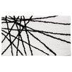 InterDesign Abstract Black / White Area Rug