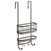 InterDesign York Lyra Bathroom Over the Door Shower Caddy