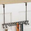 """InterDesign Classico 4.75"""" Deep Over the Door Closet Organizer Rack for Ties and Belts"""