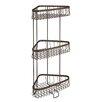 InterDesign York Lyra Steel Free Standing Shower Shelf