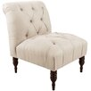 Skyline Furniture Linen Tufted Upholstered Side Chair
