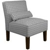 Skyline Furniture Cross Section Fabric Slipper Chair