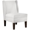 Skyline Furniture Twill Cotton Wingback Side Chair