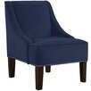 Skyline Furniture Velvet Swoop Arm Chair