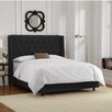 Skyline Furniture Velvet Upholstered Wingback Panel Bed