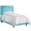Skyline Furniture Border Premier Microsuede Upholstered Panel Bed