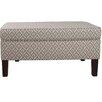 Skyline Furniture Clover Upholstered Storage Bedroom Bench