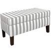 Skyline Furniture Canopy Stripe Upholstered Storage Bedroom Bench