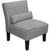 Skyline Furniture Berne Fabric Armless Slipper Chair